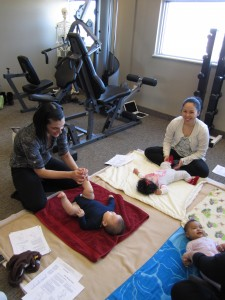Infant Massage Class at Advanced Health Recovery.